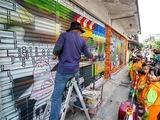 冬山老街3D彩繪牆